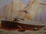 Section from RMS Celtic Painting