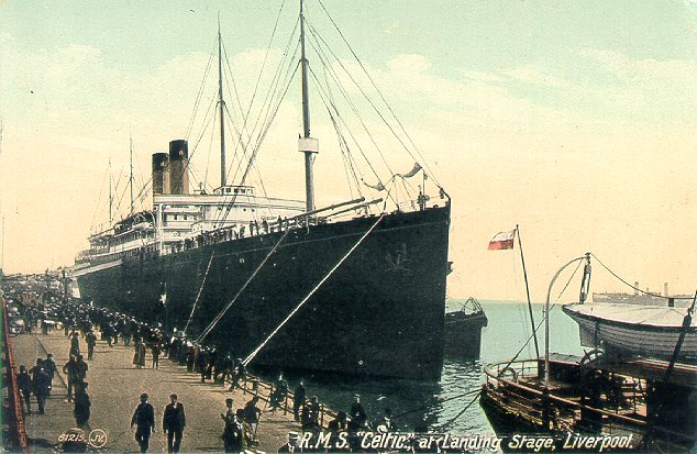 RMS CELTIC at Liverpool Landing Stage